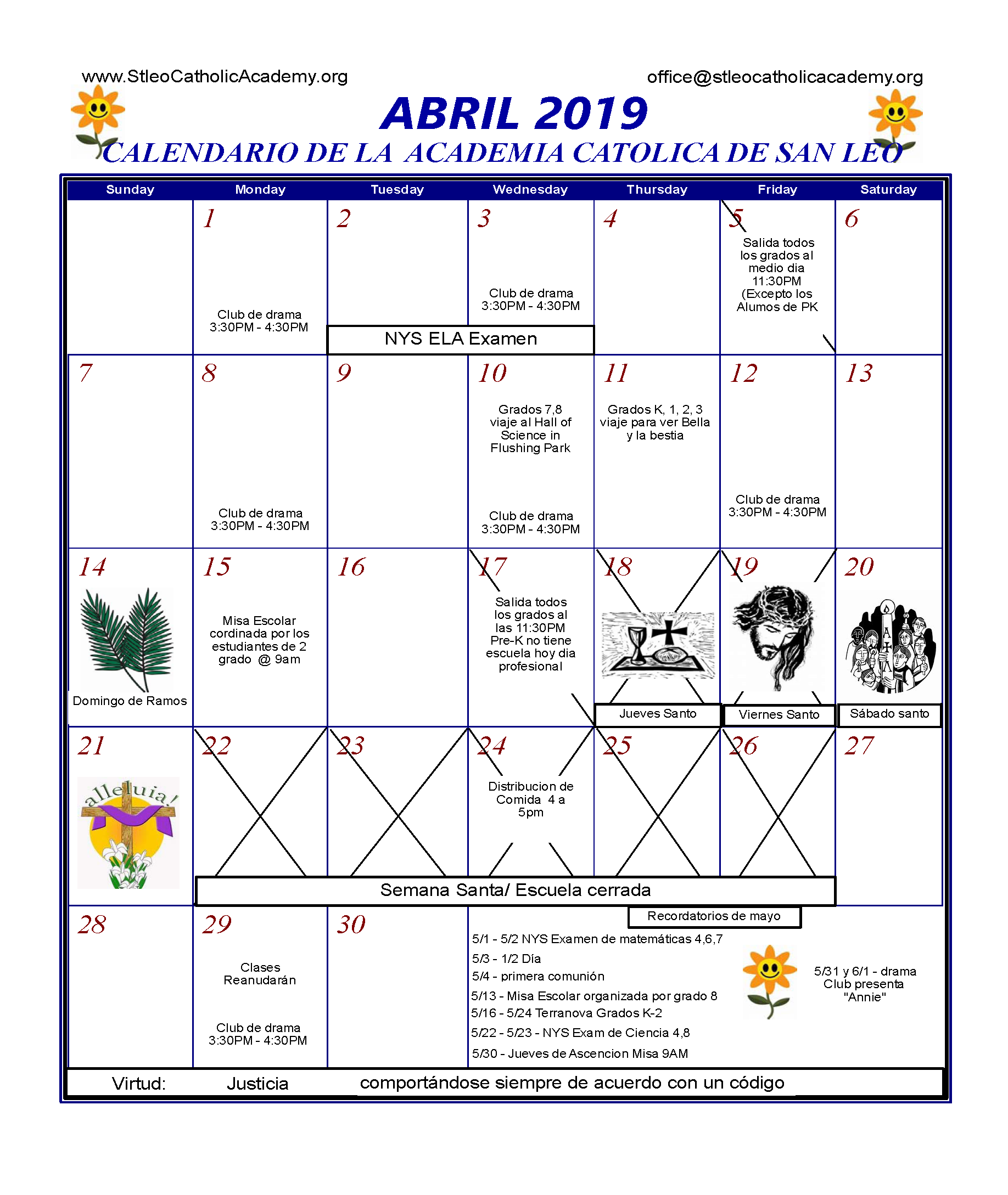 April 2019 color spanish – St  Leo Catholic Academy